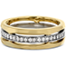 Copley Triple Row Wedding Band view 3