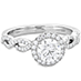 Destiny Lace HOF Halo Engagement Ring - Dia Intensive view 3