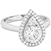 Destiny Teardrop Shape Halo Engagement Ring view 3