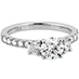 Destiny Three Stone Engagement Ring view 3