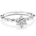 Diamond Bar Flower Stackable Ring view 3