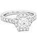 HOF Hexagonal Engagement Ring - Diamond Band view 3
