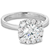 HOF Signature Custom Halo Engagement Ring view 3