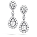 HOF Teardrop Halo Double Drop Earrings view 1