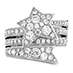 Illa Wraparound Diamond Comet Ring view 1