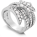 Illa Wraparound Diamond Comet Ring view 2