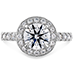 Illustrious Halo Engagement Ring-Diamond Band view 1