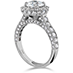 Illustrious Halo Engagement Ring-Diamond Band view 2