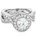 Illustrious Halo Twist Diamond Engagement Ring view 3