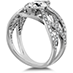 Intertwining Regal Diamond Engagement Ring view 2