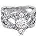 Intertwining Regal Diamond Engagement Ring view 3
