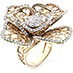 Lace Rose Pave Center Right Hand Ring view 2