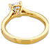 Liliana Milgrain Engagement Ring - Dia Band view 4