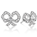 Lorelei Diamond Bow Stud Earrings