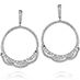 Lorelei Diamond Circle Earrings view 1