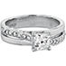 Lorelei Dream Single Cross Over Engagement Ring view 3