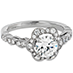 Lorelei Floral Engagement Ring view 4