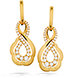 Lorelei Gold Infinity Earrings view 1