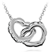 Lorelei Interlocking Diamond Heart Necklace view 1