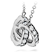 Lorelei Interlocking Diamond Heart Necklace view 2