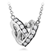 Lorelei Interlocking Diamond Heart Necklace view 3