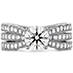 Lorelei Triple Diamond Row Engagement Ring view 1