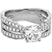 Lorelei Triple Diamond Row Engagement Ring view 3