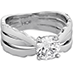 Lorelei Triple Row Solitaire Engagement Ring view 3
