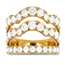 Lorelei Triple Wave Diamond Ring view 1