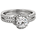 Optima Double Row Engagement Ring view 3