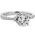 Optima Engagement Ring- Diamond Band view 3