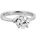 Optima Solitaire Engagement Ring view 3