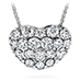 Silk Pave Sweetheart Pendant Necklace
