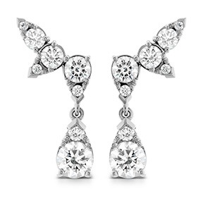 Aerial Diamond Drop Ear Vine Earrings