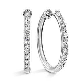 HOF Oval Classic Diamond Hoop - Medium