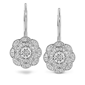 Lorelei Double Halo Diamond Drop Earrings