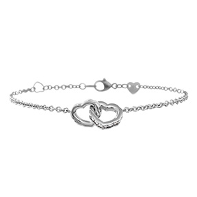 Lorelei Interlocking Diamond Heart Bracelet
