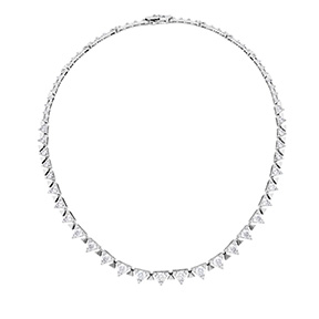 Triplicity Line Necklace