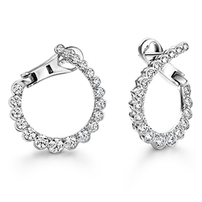 Aerial Regal Diamond Hoops- Small