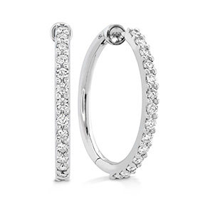 HOF Classic Diamond Hoop - Medium