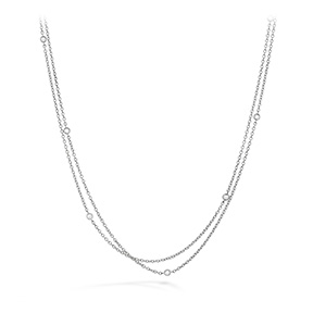 HOF Double Chain Bezel Necklace