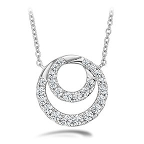 Optima Diamond Circle Pendant