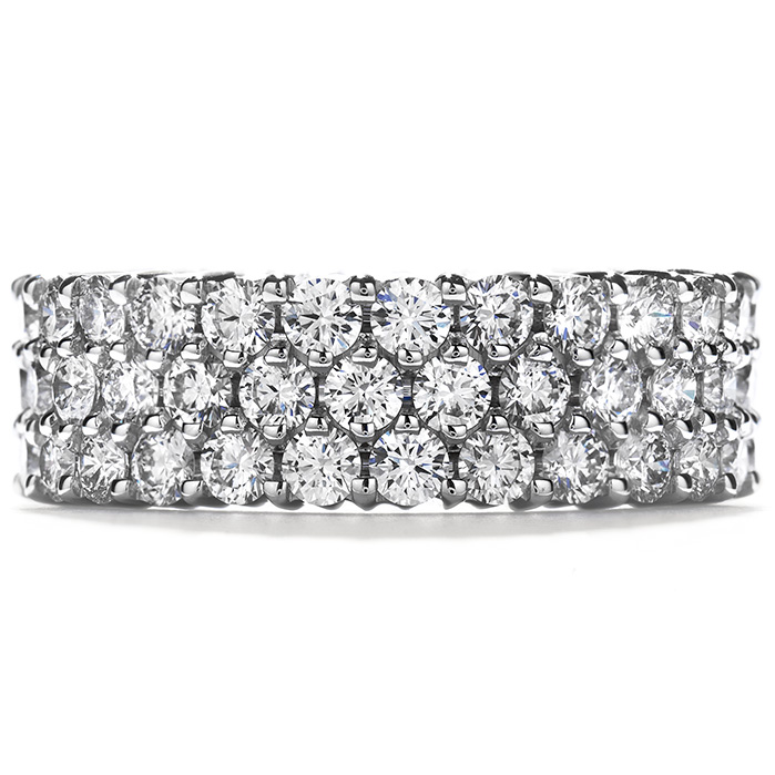 5.75 ctw. Right Hand Ring, Triple-Row Eternity Band in Platinum