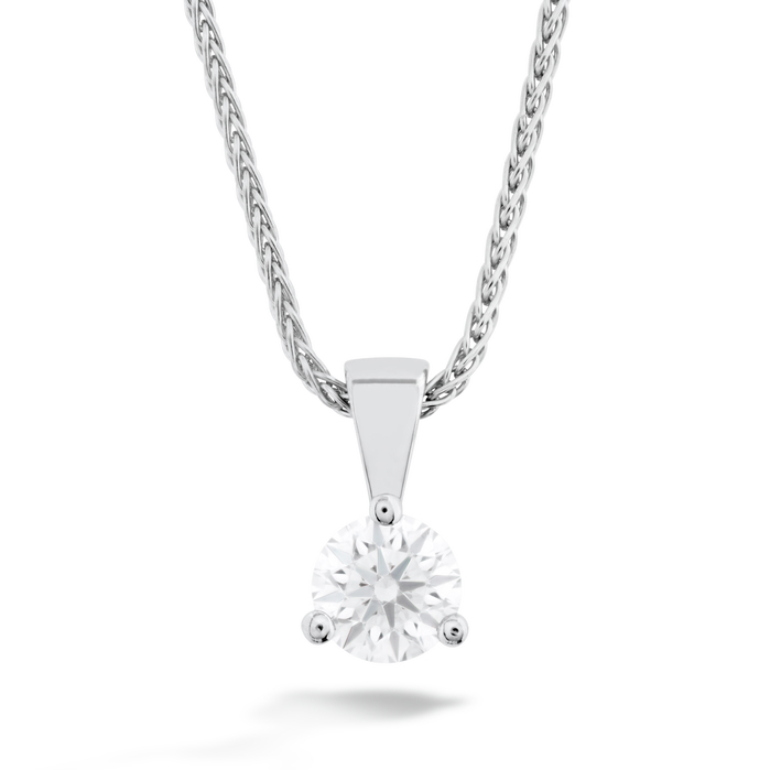 0.33 ctw. Solitaire Pendant - Three-Prong in 18K White Gold