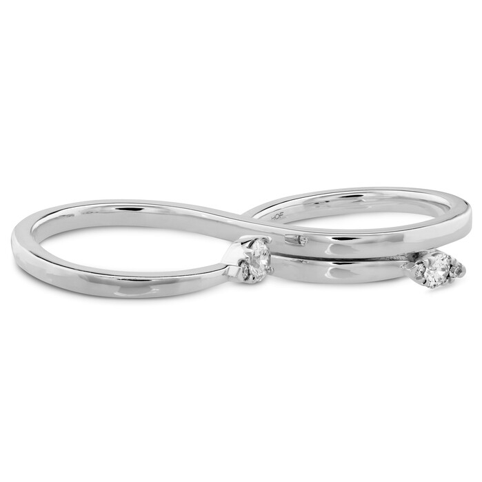 0.35 ctw. Aerial Teardrop Double Ring in 18K White Gold