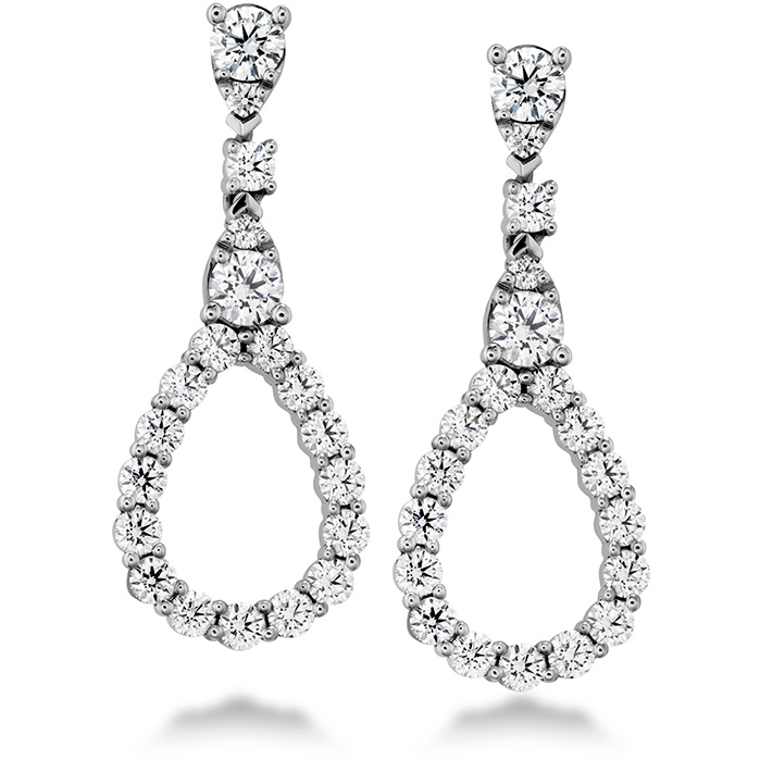 1.3 ctw. Aerial Diamond Drop Earrings in 18K White Gold