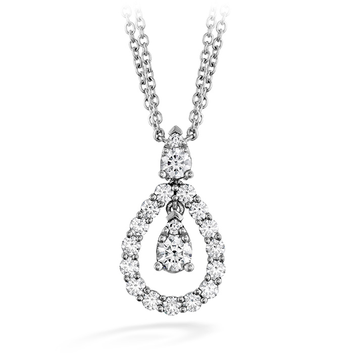0.8 ctw. Aerial Diamond Drop Necklace in 18K White Gold