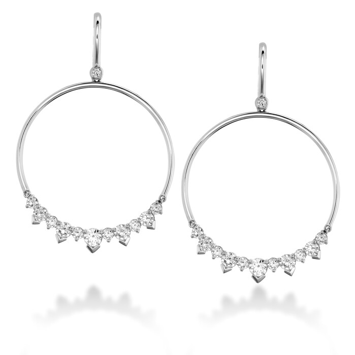 2.4 ctw. Aerial Eclipse Earrings in 18K White Gold