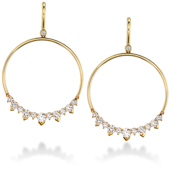 2.4 ctw. Aerial Eclipse Earrings in 18K Rose Gold