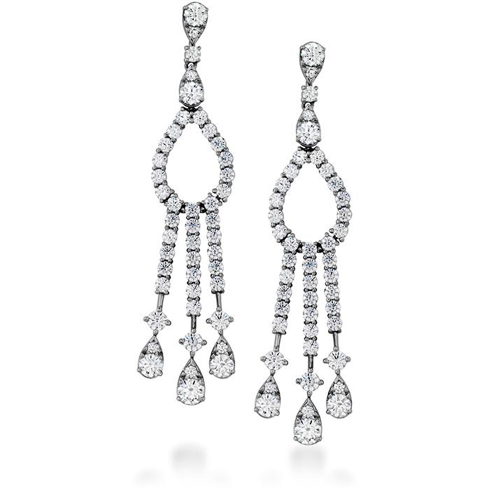 3.35 ctw. Aerial Elegance Chandelier Earrings in 18K White Gold